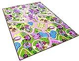 Sweet Girl Town Spielteppich Strassenteppich Kinderspielteppich Mädchen Teppich