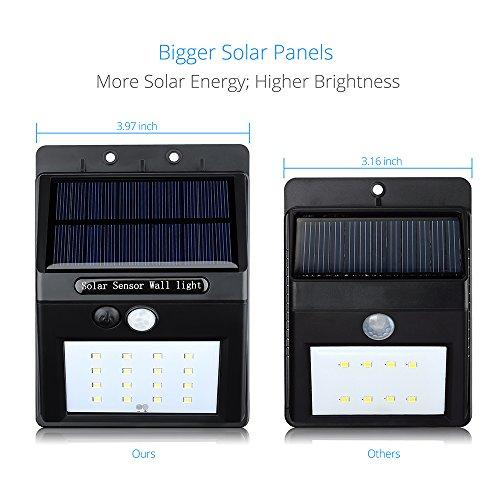 solar light pictek 16 led solar powered wireless motion. Black Bedroom Furniture Sets. Home Design Ideas