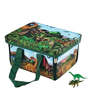 A portable fold out playmat for dino adventures on the go - and a practical storage case too. Includes 2 mini dinosaurs.  Ages 3-8