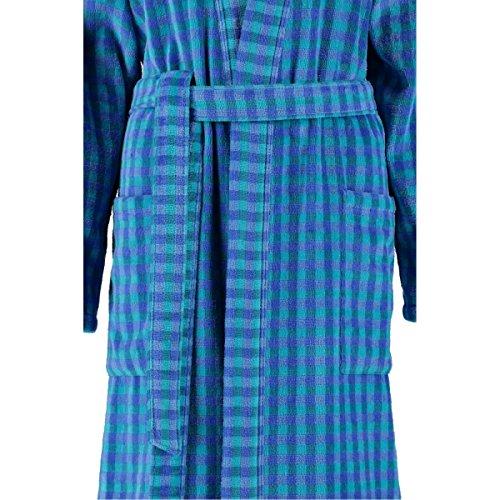 caw 2430 kimono damen bademantel blau ca 120cm lang gr e l 44 fb 011. Black Bedroom Furniture Sets. Home Design Ideas