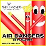 20FT Red Skyer Air Dancer Wacky Waving Inflatable Fly Sky Guy Puppet Advertising Dancing Tube