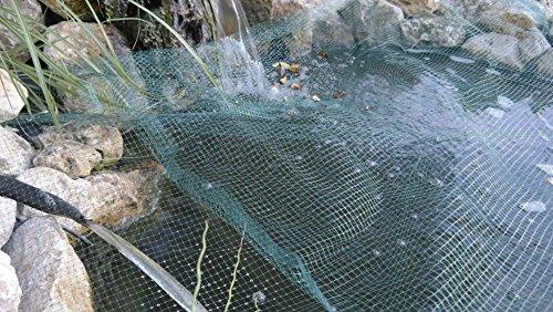 Teichabdecknetz 3x4 2m teichnetz teichschutz fischreiher for Was fressen teichfische