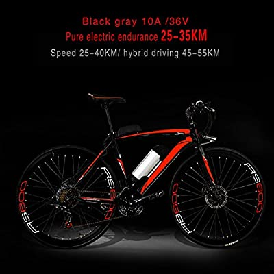 Yoli® 21 speeds,Lithium Battery Mountain E bike, 700CC Bike,26'' wheel size