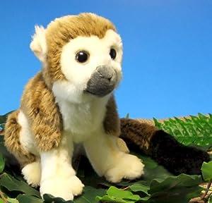 Plüschtier Affe Totenkopfäffchen sitzend 20 cm