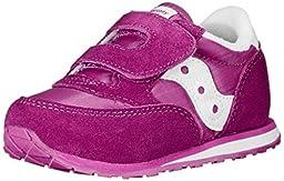 Saucony Girls Jazz Hook and Loop Sneaker (Toddler/Little Kid),Paradise Pink,7 M US Toddler