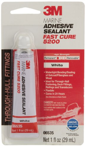 3M Marine Adhesive Sealant 5200 Fast Cure White, 06535, 1 oz tube (Pack of 1)