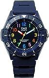 [シチズン]Q&Q 腕時計 10気圧防水 ウレタンバンド メンズ レディース VR58-008 ネイビー マルチカラー [国内正規品]