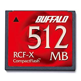 BUFFALO コンパクトフラッシュ 512MB RCF-X512MY