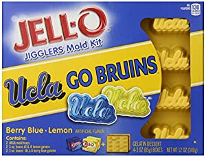 JELL-O UCLA Dessert Mold Kit, Berry Blue Lemon, 12 Ounce