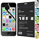 i-Blason HD Matte Bubble Free Screen Protector for Apple iPhone 5C Reusable Anti Glare (AT&T, Verizon, Sprint, T-Mobile, All Carriers) (Black)