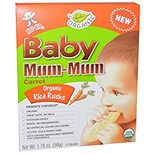 Amazon.com: Mum Mum Rice Biscuits - Organic Carrot - 1.76