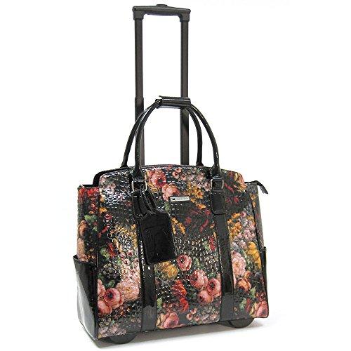 cabrelli-rachel-rose-15-inch-laptop-bag-on-wheels-briefcase-black-rose