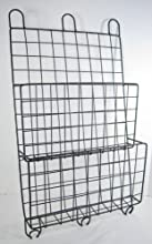 Industrial Style Metal Double Wall Pocket Organizer File Holder Magazine Holder