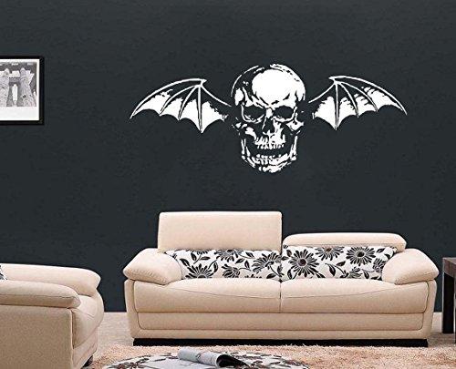 In metallo, XL, con Logo degli Avenged Sevenfold-Sticker in vinile Wall Art per camera da letto, rosso, Small - 59cm W x 23cm H