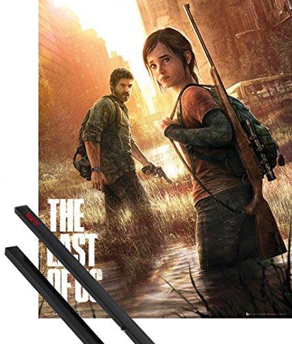 Poster + Sospensione : The Last Of Us Mini Poster (50x40 cm) Key Art e Coppia di barre porta poster nere 1art1®