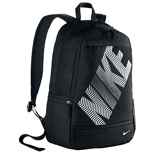 Nike Classic Line Zaino, Black/Black/(White), Taglia Unica