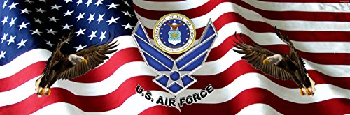 Air Force American Flag Eagle Full Size Rear Truck Window Graphic (Military Rear Window Graphics compare prices)