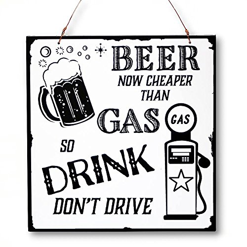 Beer And Brew Good-Times Cheaper Than Gas Hang/Desk Laser-Etched Plaque front-524595