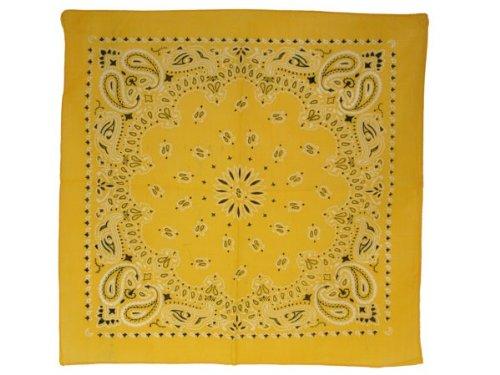 Bandana di colori e motivi diversi (BA-166) giallo multifunzione classica foulard scialle collo rocker biker motociclista motorcycle pirata accessorio hip hop cappellino cowboy bracciale