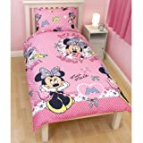 Minnie Mouse Shopaholic Single Duvet Set Pink/Multi Size: 135cm x 200cm 100% Polyester Microfibre
