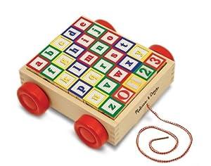 Melissa & Doug - ABC 123, coche con bloques de madera (11169) en BebeHogar.com