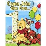 Disney Winnie the Pooh Invitations 8pk Hallmark Party Supplies Birthday Celebration