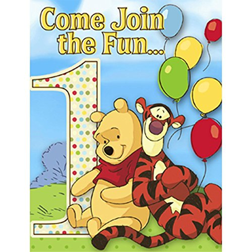 Disney Pooh and Pals 1st Birthday Invitations (8)