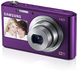Samsung DV150F Fotocamera Digitale Smart 16.2 Megapixel, Zoom Ottico 5x, Display LCD da 6.9cm (2.7 Pollici), Stabilizzatore di Immagine, DualView, Wi-Fi, Colore Lilla