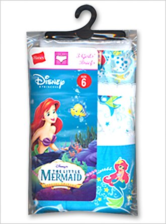 Buy Hanes P421AR Girls Toddler Showtoons-Little Mermaid Brief