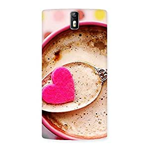 Impressive Pink Love Coffee Multicolor Back Case Cover for One Plus One