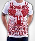 Armbar Submission Gear Cage Fighter Mixed Martial Arts MMA Shirt (Large)