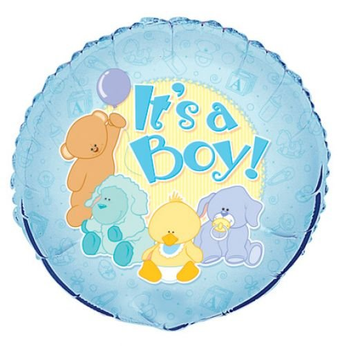 "18"" It's a Boy Baby Animals Balloon"