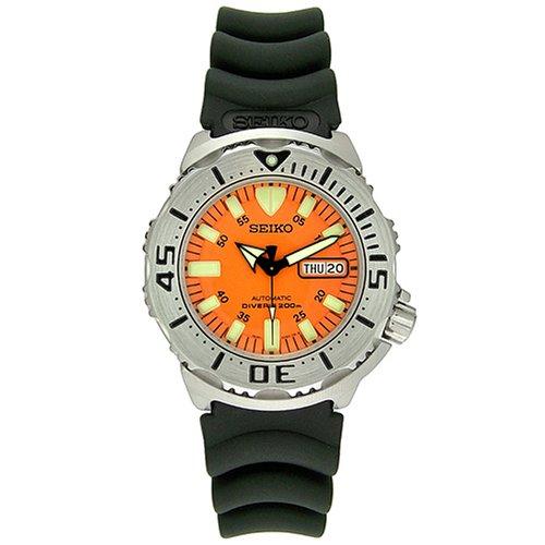51R3R6TAK9L Seiko Mens SKX781K3 Orange Monster Automatic Dive Watch