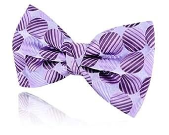 Nœud Papillon Pré-Noué Motif Gros Points Violets