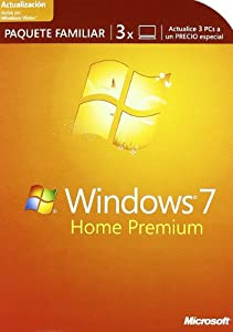 Microsoft Windows 7 Home Premium actualización Familia 3 PCs