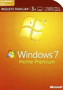 Microsoft Windows 7 Home Premium actualización Familia 3 PCs