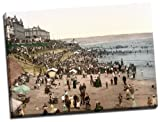 Canvas Reproduction Print, A Picture Of Bridlington, Childrens Corner, Yorkshire, England, Wrapped Around A Thick Wooden Frame Of Approx. 22mm In Depth (Finished Size with Wrap, Approx. 25mm), Aproximate size 20 Inch x 15 Inch (50.8 cm x 38.1 cm)