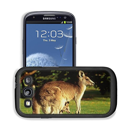 Animal Wildlife Kangaroo Mother Baby Australia Outback Samsung I9300 Galaxy S3 Snap Cover Premium Leather Design Back Plate Case Customized Made To Order Support Ready 5 3/8 Inch (136Mm) X 2 7/8 Inch (73Mm) X 7/16 Inch (11Mm) Luxlady Galaxy_S3 Professiona front-1054207