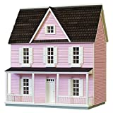 Finished & Ready to Play Dollhouse 0.5 Scale Farmhouse Color: Pink