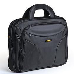 Travel Black 15.4 Inches Laptop Bag - 4 Pockets