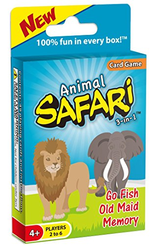 Animal Safari 3-in-1: GO FISH, Old Maid, and Memory Card Game