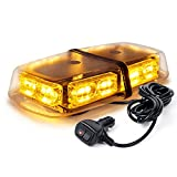 Xprite Gen 3 Amber Yellow 36 LED 18 Watts High Intensity Law Enforcement Emergency Hazard Warning LED Mini Bar Strobe Light with Magnetic Base