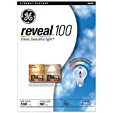 GE 48690 100-Watt A19 Reveal Bulbs, 8-Pack