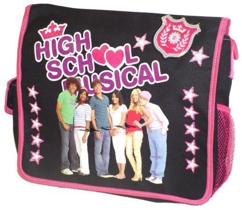High School Musical Entire Group Black/Pink Messenger Bag