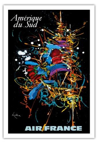 amerique-du-sud-amerique-du-sud-air-france-expressionniste-abstrait-george-mathieu-airline-affiche-v