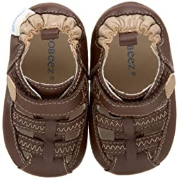 Robeez Mini Shoez 33810 Sandal (Infant/Toddler),Brown,6-9 Months (3 M US Infant)