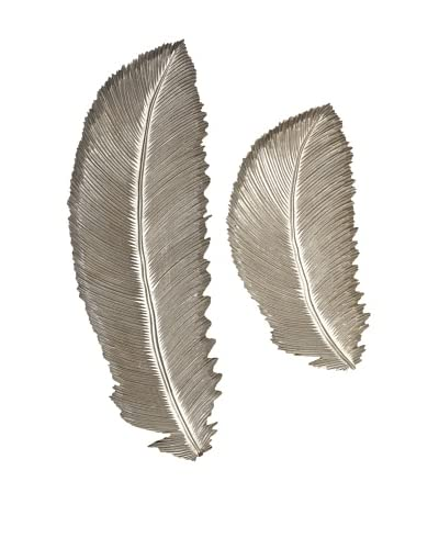 Set of 2 Eshe Carved Feathers
