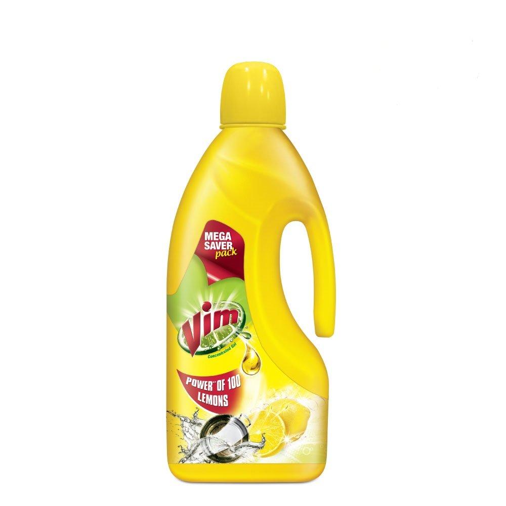 Vim Dishwash Gel, Lemon, 1.5 L