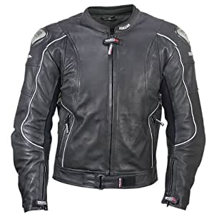 Vulcan Mens NF-8141-A Armored Leather Motorcycle Jacket with Perforated Leather Panels - 3XL