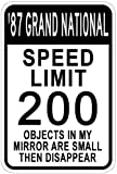 1987 87 BUICK GRAND NATIONAL Speed Limit Sign - 12 x 18 Inches